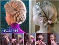 Comment faire la coiffure d'Elsa! La Reine Des Neiges! Frozen!