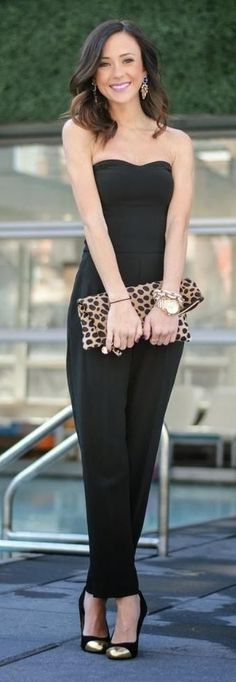 ♥Black Bandeau Jumpsuit