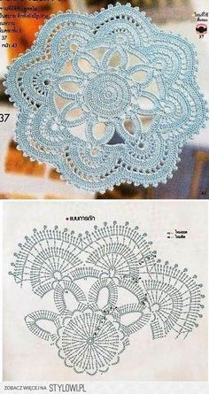 Watch The Video Splendid Crochet a Puff Flower Ideas. Wonderful Crochet a Puff Flower Ideas. Filet Crochet, Mandala Au Crochet, Beau Crochet, Crochet Doily Diagram, Crochet Circles, Crochet Doily Patterns, Crochet Chart, Crochet Squares, Thread Crochet