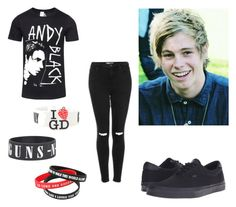 """""""Luke's outfit"""" by irwinlover94 ❤ liked on Polyvore featuring beauty, Topshop and Vans"""