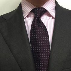 Viola Milano handrolled grenadine tie…