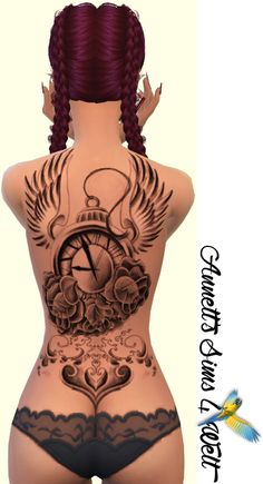 Back Tattoo: Sims 4 CC's - The Best: Back Tattoos for Women by Annett85