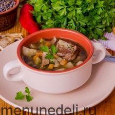 Рецепты постных супов / Меню недели