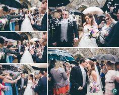 Wedding photojournalism at Lulworth Castle, the confetti photo!