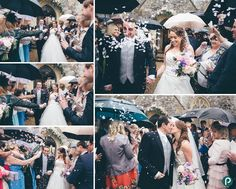 Wedding photojournalism at Lulworth Castle, the confetti photo!
