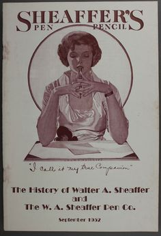 The History of Sheaffer Booklet