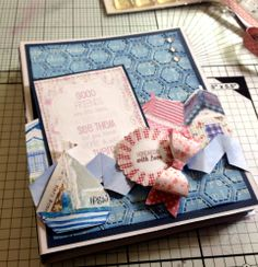 How well does the Embossalicious Honeycomb Patchwork embossing folder work with the beautiful Halcyon Days imagery?