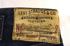 Levi Strauss Overalls Lot 201, 1890