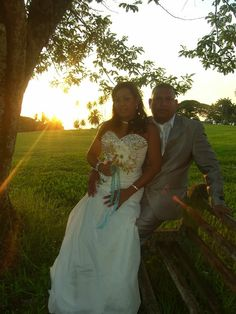 Delano & Nalini enjoyed a small private garden wedding followed by photos at picturesque Mt Irvine and Grange beach. See more at http://www.tobagoweddings.blogspot.com  #garden #wedding #abroad