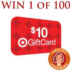 Win 1 of 100 $10 Target Gift Cards