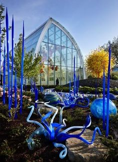 Chihuly Garden and Glass exhibit at the foot of the Space Needle in Seattle