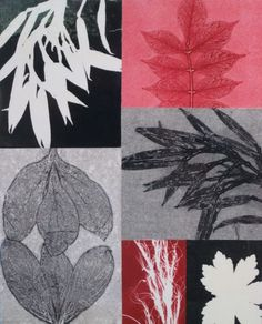 botanical monotype collage, mary margaret briggs