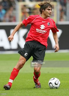 Freiburg's Youssef Mohammad runs with the ball during the Second Bundesliga match between SC Freiburg and Hansa Rostock at the badenova stadium on August 13, 2006 in Freiburg, Germany.