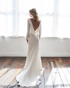 30 Totally Unique Fashion Forward Wedding Dresses ❤ fashion forward wedding dresses simple low back sheath anne barge #weddingforward #wedding #bride #weddingoutfit #bridaloutfit #weddinggown