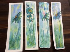 Watercolor Bookmarks by Katie Waller