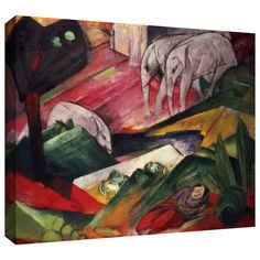 'The Dream' by Franz Marc Gallery Wrapped on Canvas