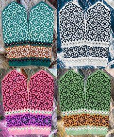 Knitting Patterns Gloves Ravelry: Snowstorm Mittens pattern by Natalia Moreva Knitted Mittens Pattern, Knitted Slippers, Knit Mittens, Knitted Gloves, Loom Knitting, Knitting Socks, Hand Knitting, Drops Design, Knitting Machine Patterns
