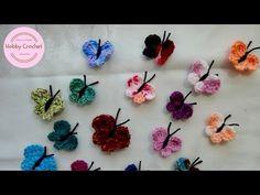 Mariposas a crochet paso a paso. - YouTube