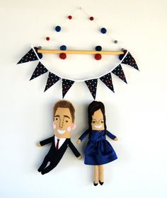 A Couples Personalized Wall Hanging by PinkCheeksStudios on Etsy, $130.00