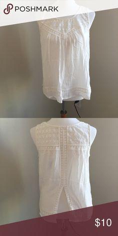Tank w/ lace detail and split back Tank w/ lace detail and split back Tops