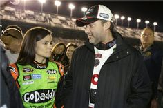 2014 Sprint Unlimited, Tony & Danica before the race, 2/15/14