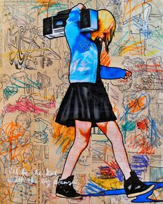 """Annie Terrazzo, USA: Mixed Media, """"I'll Be The Kid With The Big Plans"""" #art"""