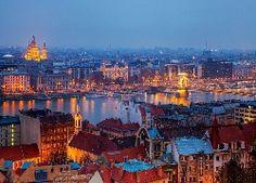 Rzeka, Most, Panorama, Miasta, Budapeszt, Węgry