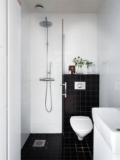 54 Cool And Stylish Small Bathroom Design Ideas Bathroom Small Bathroom Layout, Very Small Bathroom, Tiny Bathrooms, Simple Bathroom, White Bathroom, Bathroom Ideas, Bathroom Organization, Bathroom Storage, Master Bathrooms