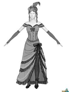 This is our Western Saloon girl dress. Description from simsnetwerk.com. I searched for this on bing.com/images