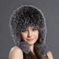 43% OFF   Parent-child Silver fox fur hats for women winter warm c7baf937ce53