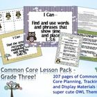 This lesson pack contains everything you will need to teach, track, and display the Common Core State Standards for Grade Three!  With 196 pages, i...