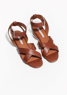 & Other Stories | Rounded Heel Ankle Strap Sandals