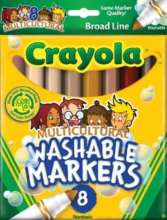 Crayola 8 Count Washable Multicultural Colors Conical Tip Markers Crayola http://www.amazon.com/dp/B000F8V2GS/ref=cm_sw_r_pi_dp_Hcpavb1MF3HKC