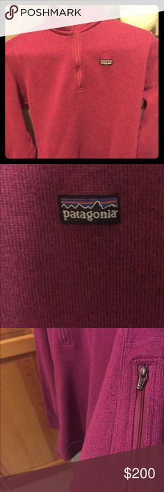 Fushia Patagonia sweater Like new, worn only a few times. Great condition, fushia or dark pink Patagonia sweater Patagonia Jackets & Coats