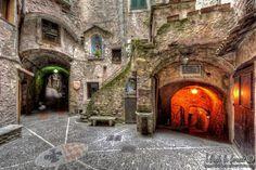 Walking through the narrow streets of Dolceacqua by dlddanilo