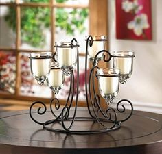 Wrought Iron Scroll Table Lamp Decorative Lamps