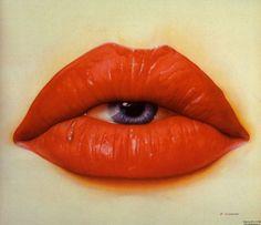 eye and lips