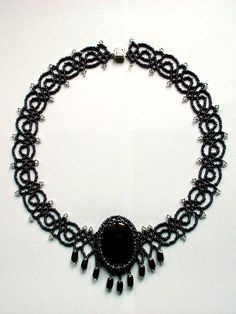 Free pattern for necklace Black Lace       Pattern doesnt consist pattern for cabochone  [ad#Ads_post]        &