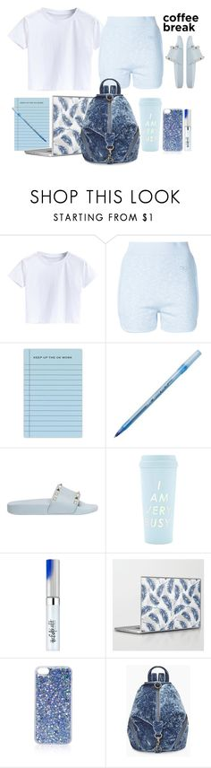 """""""Untitled #1583"""" by santospretty ❤ liked on Polyvore featuring THEATRE PRODUCTS, Terrapin Stationers, Valentino, ban.do, Estée Lauder, Topshop and Rebecca Minkoff"""