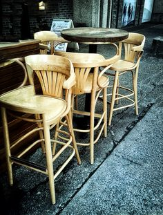CHAIR COLLAGE,  St. Catherine  Montreal. Montreal, Bar Stools, Collage, Chair, City, Table, Furniture, Home Decor, Bar Stool Sports