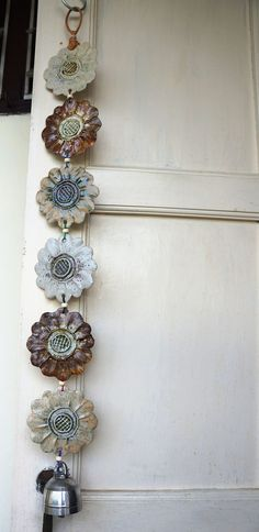 Handmade ceramic wind chimes