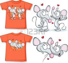 Kinderhemd mit niedlichen M�use in der Liebe gedruckt - isoliert auf wei� photo