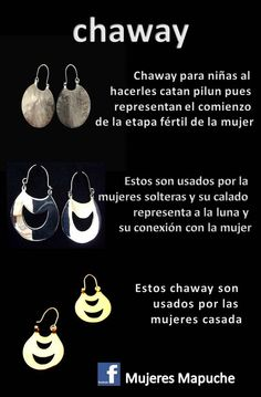 Joyas Mapuches. Gypsy Jewelry, Metal Jewelry, Statement Earrings, Women's Earrings, Bohemia Style, Silver Work, New Tattoos, Handcrafted Jewelry, Just In Case
