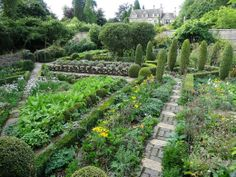 The Potager in September, originally conceived by Rosemary Verey and her home, Barnsley House nr Cirencester, The Cotswolds http://www.barnsleyhouse.com/gardens