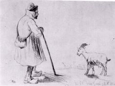 Goat Herd, The. 1862. 9 years old. Vincent van Gogh: Juvenilia