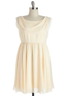 Pas de Bourrée a Day Dress in Ivory. Hop, step, and sway into this flowing ivory dress - a ModCloth exclusive - and delight in an instantly romantic appearance! #cream #wedding #bride #modcloth