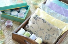 Make lavender and chamomile eye pillows. #spa #crafts