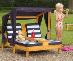 Dvojité zahradní lehátko pro děti Sunshine