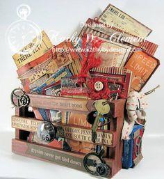 Vintage Travel Crate - American Vintage - 7gypsies - travel photos, vacation memories Vintage Crates, Travel Scrapbook, Creative Studio, Travel Photos, Altered Art, Mini Albums, Mixed Media Art, Art Therapy, Vintage Photos