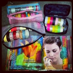 Tips and tricks for storing washi and deco tapes and using them in your journaling on the go